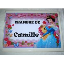 Décoration Chambre de Camille princesse sur faience idée cadeau naissance anniversaire noël neuve emballée