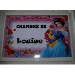 Décoration Chambre de Louise princesse sur faience idée cadeau naissance anniversaire noël neuve emballée