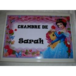 Décoration Chambre de Sarah princesse sur faience idée cadeau naissance anniversaire noël neuve emballée