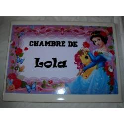Décoration Chambre de Lola princesse sur faience idée cadeau naissance anniversaire noël neuve emballée