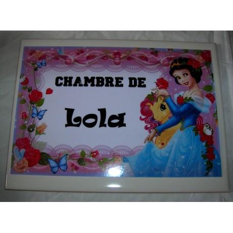 Chambre de Lola princesse sur faience idée cadeau naissance anniversaire neuf emballé
