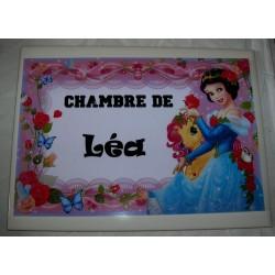 Décoration Chambre de Léa princesse sur faience idée cadeau naissance anniversaire noël neuve emballée
