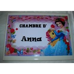 Décoration Chambre d' Anna princesse sur faience idée cadeau naissance anniversaire noël neuve emballée
