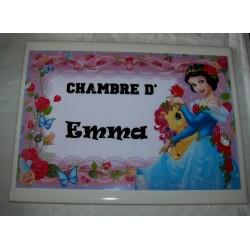 Décoration Chambre d'Emma princesse sur faience idée cadeau naissance anniversaire noël neuve emballée
