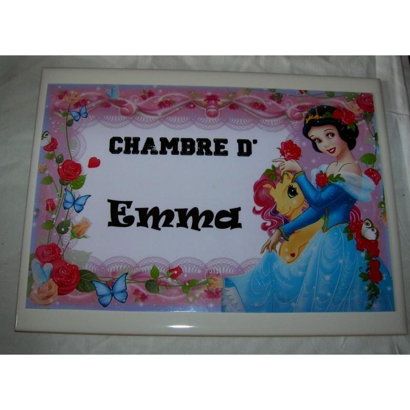 Idee Cadeau Naissance.Chambre D Emma Princesse Sur Faience Idee Cadeau Naissance Anniversaire Neuf Emballe Amzalan Com
