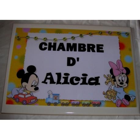 Chambre d'Alicia Mickey sur faience idée cadeau naissance anniversaire neuf emballé
