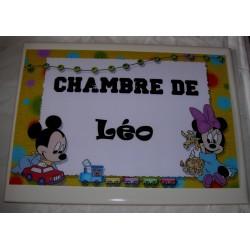 Décoration Chambre de Léo Mickey sur faience idée cadeau naissance anniversaire noël neuve emballée