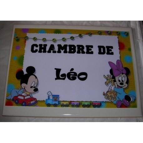 Chambre de Léo Mickey sur faience idée cadeau naissance anniversaire neuf emballé