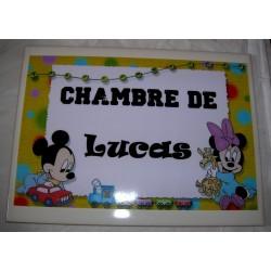 Décoration Chambre de Lucas Mickey sur faience idée cadeau naissance anniversaire noël neuve emballée