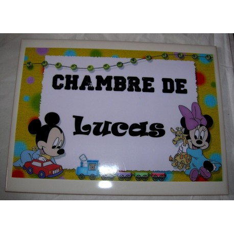 Chambre de Lucas Mickey sur faience idée cadeau naissance anniversaire neuf emballé