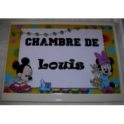 Chambre de Louis Mickey sur faience idée cadeau naissance anniversaire neuf emballé