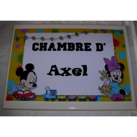 Chambre d'Axel Mickey sur faience idée cadeau naissance anniversaire neuf emballé