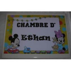 Chambre d'Ethan Mickey sur faience idée cadeau naissance anniversaire neuf emballé
