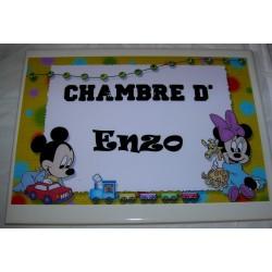 Chambre d'Enzo mickey sur faience idée cadeau naissance anniversaire neuf emballé