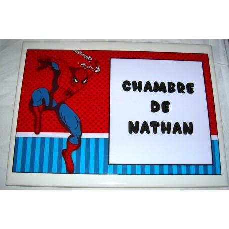 Chambre de Nathan Spiderman sur faience idée cadeau naissance anniversaire neuf emballé