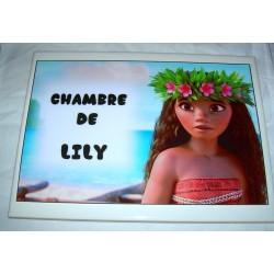Décoration Chambre de Lily Vaïana sur faience idée cadeau naissance anniversaire noël neuve emballée
