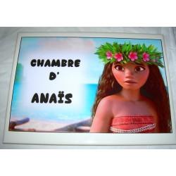 Décoration Chambre d'Anaïs Vaïana sur faience idée cadeau naissance anniversaire neuve emballée