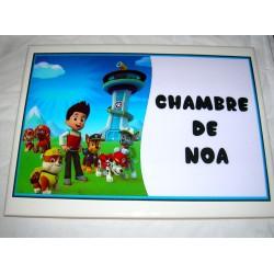 Décoration Chambre de Noa Pat Patrouille Paw Patrol sur faience idée cadeau naissance anniversaire neuve emballée