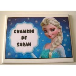 Décoration Chambre de Sarah Reine des neiges Frozen sur faience idée cadeau naissance anniversaire neuve emballée