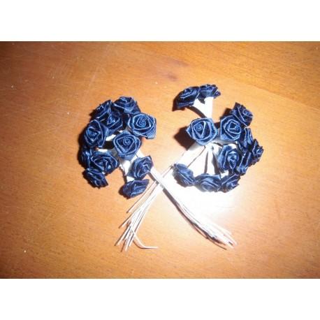 Mini rose bleu marine deco fêtes mariage baptemes anniversaire neuf x 24 pièces