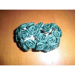 Mini rose vert foncé déco fêtes mariage baptemes anniversaire neuf x 24 pièces