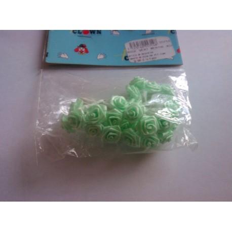 Mini rose vert menthe déco fêtes mariage baptemes anniversaire neuf x 24 pièces