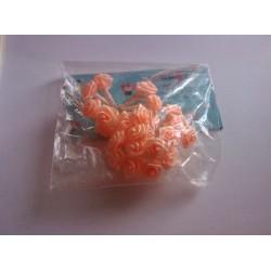 Mini rose saumon déco fêtes mariage baptemes anniversaire neuf x 24 pièces