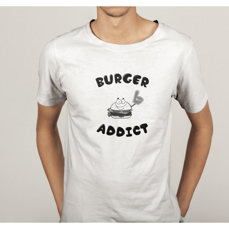 transfert textile tee shirt humoristique homme burger. Black Bedroom Furniture Sets. Home Design Ideas