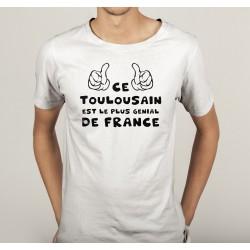 TRANSFERT TEXTILE TEE SHIRT HUMORISTIQUE HOMME CE TOULOUSAIN EST LE PLUS GENIAL DE FRANCE NEUF