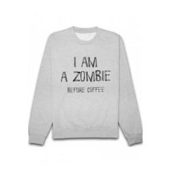 Sweatshirts unisexe humour - I am zombie before coffee du XS A XXL idée cadeau anniversaire neuf