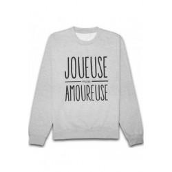 Sweatshirts unisexe - Joueuse mais amoureuse taille XS A XXL FEMME ADOS idée cadeau anniversaire neuf