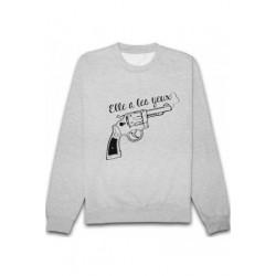 Sweatshirts unisexe - Elle a les yeux .... taille XS A XXL FEMME ADOS idée cadeau anniversaire neuf