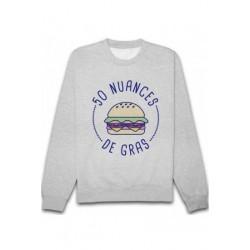 Sweatshirts unisexe - 50 nuances de gras. taille XS A XXL FEMME ADOS idée cadeau anniversaire neuf