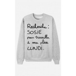 Sweatshirts unisexe - Cherche sosie .... DU XS A 4XL FEMME ADOS HOMME idée cadeau anniversaire neuf