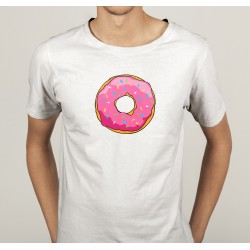TRANSFERT TEXTILE TEE SHIRT HUMORISTIQUE HOMME DONUTS GATEAUX NEUF