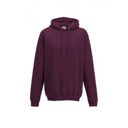 Sweat-shirt à capuche Collège - AWDIS MIXTE bordeaux DU S A XXL FEMME ADOS vêtement neuf