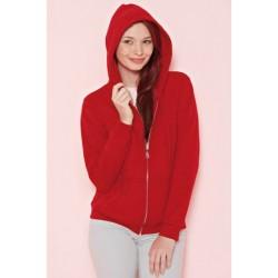VESTE Sweat-shirt zippé capuche Femme GILDAN ROUGE DU S A XL FEMME ADOS vêtement neuf