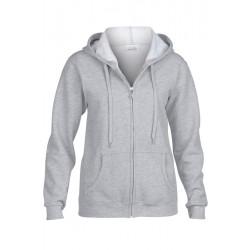 VESTE Sweat-shirt zippé capuche Femme GILDAN Gris DU S A XL FEMME ADOS vêtement neuf