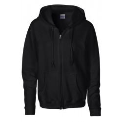 VESTE Sweat-shirt zippé capuche Femme GILDAN Noir DU S A XL FEMME ADOS vêtement neuf