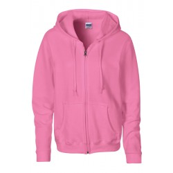 VESTE Sweat-shirt zippé capuche Femme GILDAN rose DU S A XL FEMME ADOS vêtement neuf
