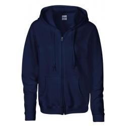 VESTE Sweat-shirt zippé capuche Femme GILDAN BLEU Marine DU S A XL FEMME ADOS vêtement neuf