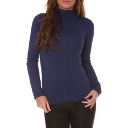 T shirt Sous pull col roulé pour femme bleu marine vêtement femme anniversaire cadeau neuf