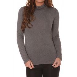 T shirt Sous pull col roulé pour femme gris vêtement femme anniversaire cadeau neuf