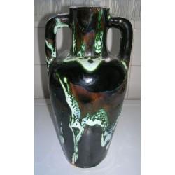ancien vase pichet barbotine type vallauris hauteur 20 cm tbe