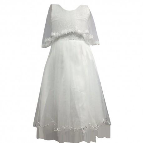 nouvelle arrivee e61f8 73461 Robe de cérémonie fille blanche du 4 au 14 ans vêtement bapteme mariage  enfant communion neuve - Amzalan.com