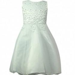 Robe de ceremonie fille blanche brodée du 4 au 14 ans vêtement bapteme mariage enfant idée cadeau neuf