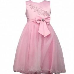 Robe de ceremonie fille rose fleurs brodées du 4 au 14 ans vêtement bapteme mariage enfant idée cadeau neuf