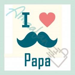 Bonne fête papa v01 sur faience avec chevalet idée cadeau originale fête des pères neuf emballé