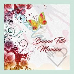 Bonne fête maman v03 sur faience avec chevalet idée cadeau originale fête des mères neuf emballé