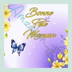 Bonne fête maman v07 sur faience avec chevalet idée cadeau originale fête des mères neuf emballé